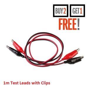 Negro//Rojo Cocodrilo Cocodrilo Clip 1 M Cable Cable de terminación de puntas de prueba cocodrilo