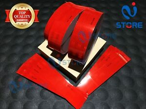 Red DOT-C2 Conspicuity Reflective Tape Safety Warning Tractor Bike Car RV