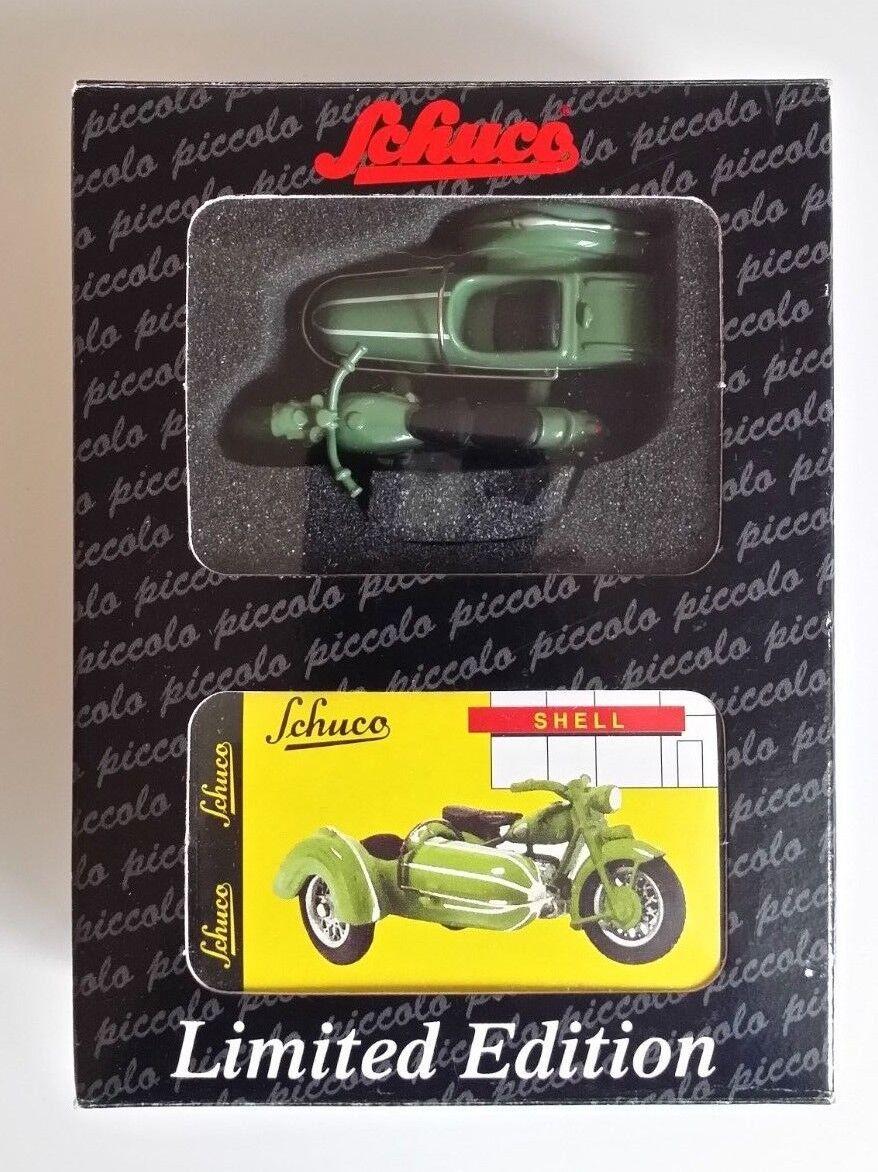 Schuco  Piccolo ZÜNDAPP KS 601 + STEIB S 350 SIDE-voiture  vert ELEPHANT  05062 EntièreHommest neuf dans sa boîte  magasin d'usine