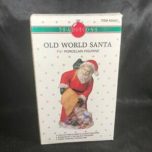 Vintage-Traditions-Porcelain-7-1-4-034-Old-World-Santa-Figurine-Original-Box