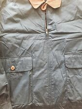 New Gant Jacket With Leather Collar Blue Xl