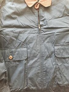 1265bb0cb Details about New Gant Jacket With Leather Collar Blue Xl