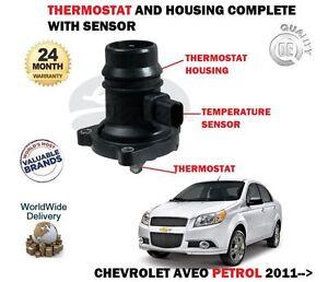 FOR CHEVROLET AVEO 1.2 1.4 2011 > NEW THERMOSTAT + HOUSING + TEMPERATURE SENSOR