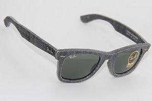 dca515a27d RAY-BAN RB 2140 1162 GREY DENIM WAYFARER AUTHENTIC SUNGLASSES 50-22 ...