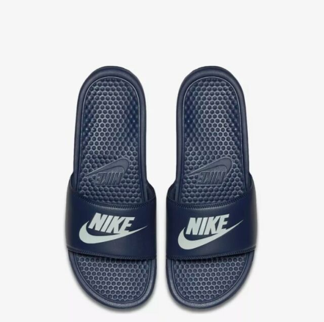 77dcbcf05540e3 Nike Benassi JDI Midnight Navy White Men Sandal Slides Slippers 343880-403 7