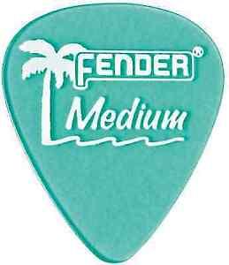 Fender 351 California Clears Guitar Picks THIN 12-Pack 1 Dozen APPLE RED