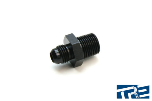 """Treadstone Performance 6AN to 3//8/"""" NPT Straight Adapter Fitting HFNAS-06AN-38NPT"""