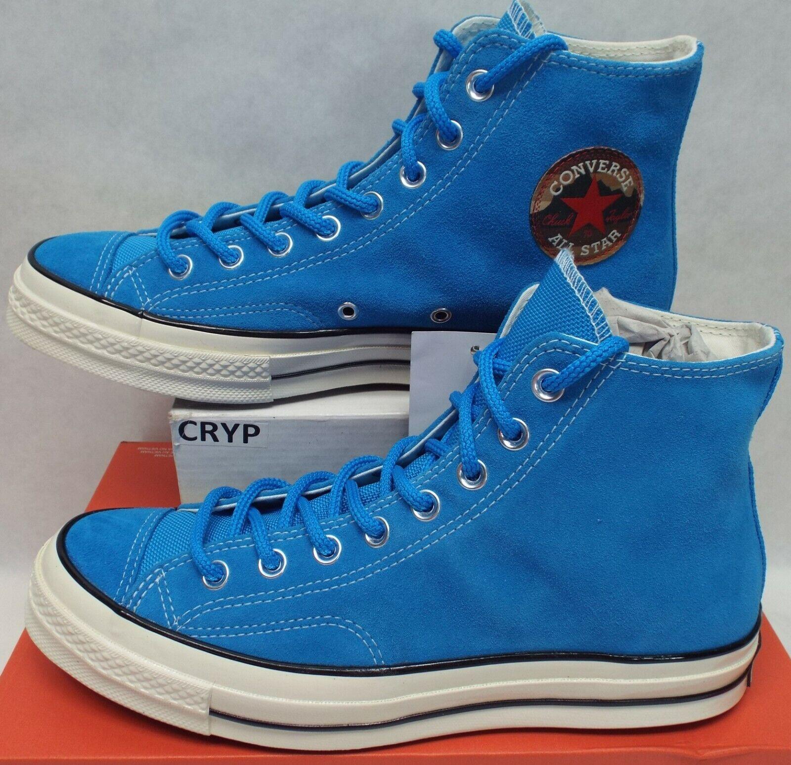 Mens 5.5 Womens 7.5 Converse Chuck 70 CT Hi bluee Hero Suede shoes  95 162370C