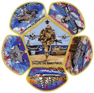 2019-Central-Florida-Council-Boy-Scout-Military-Armed-Forces-CSP-Patch-Set-Lot