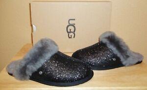 c64e0874f3d Details about UGG Australia Scuffette II Black Sparkle Women's Slippers  Shoes New US 6, 7, 9