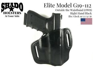 SHADO-Leather-Holster-USA-Elite-Model-G19-112-Right-Hand-Black-OWB-Glock-Brand