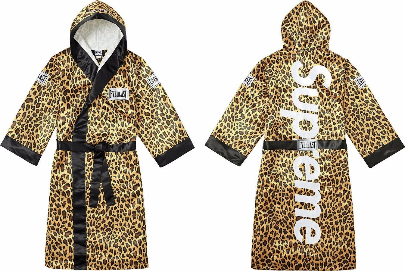 Supreme Everlast Satin Hooded Boxing Robe Size L Large F W17