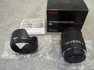 NEW-UK-Sigma-Nikon-18-200mm-f-3-5-6-3-DC-AF-Zoom-Lens-Nikon-Mount-AF-D-BOX-200-M