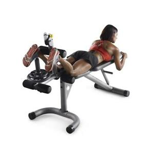 leg curl machine bicep weight bench combo extension