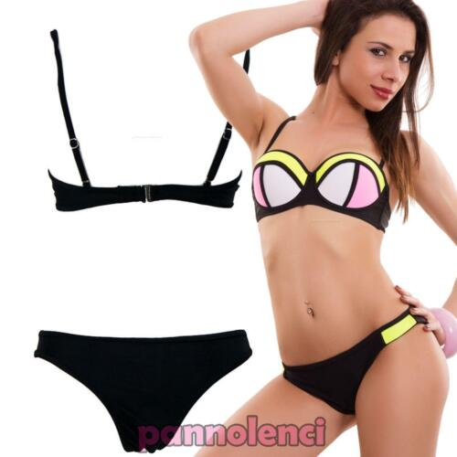 Bikini Woman Swimwear Underwire Edges Black Pushup Two Pieces New B5303