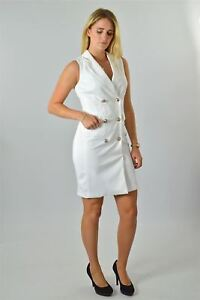 JULIEN-MACDONALD-White-Sleeveless-Blazer-Dress-RRP-55