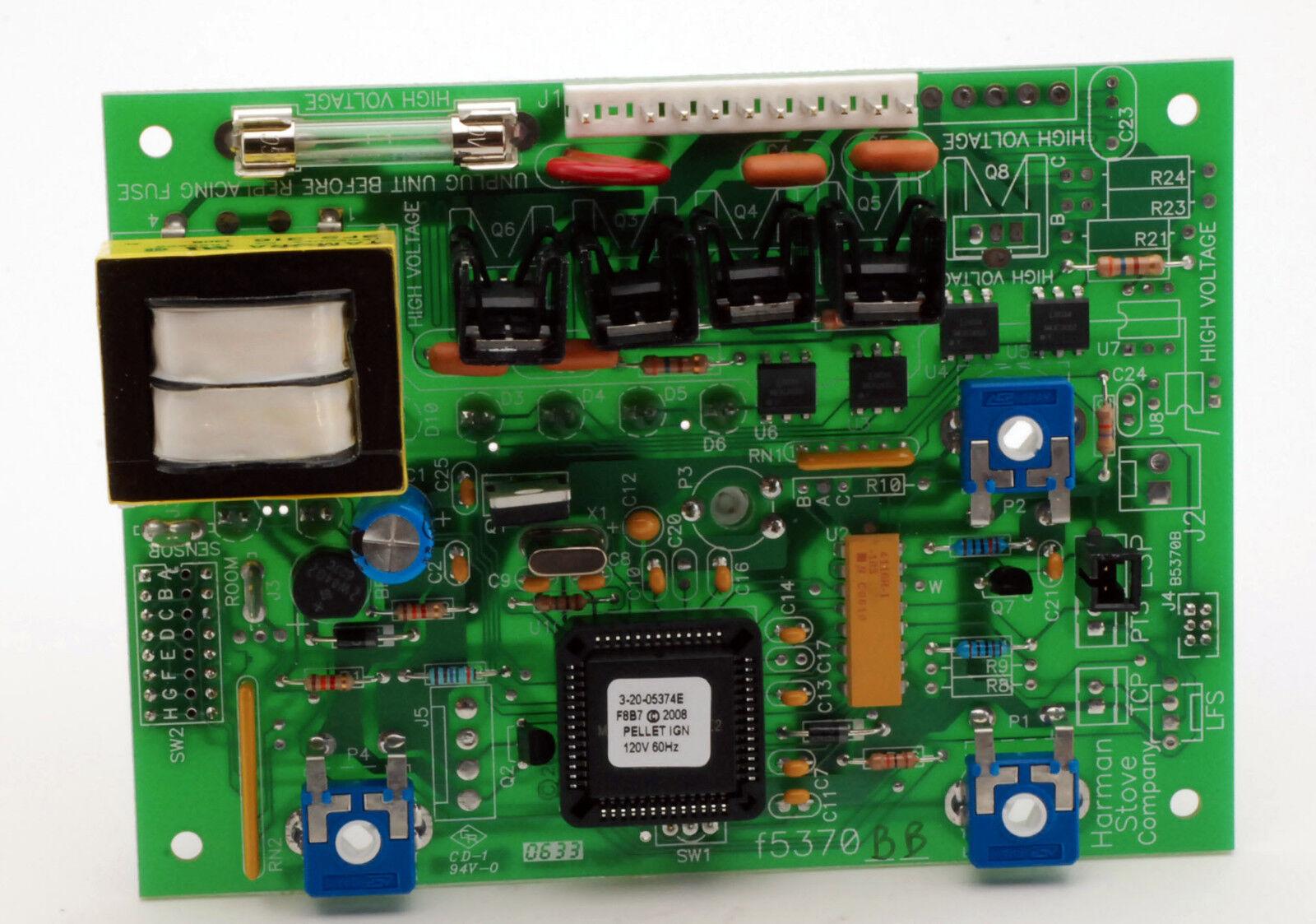 Harman, Harmon Pellet Estufa placa de circuito de control de platino 52I, P68 + 1-00-05886