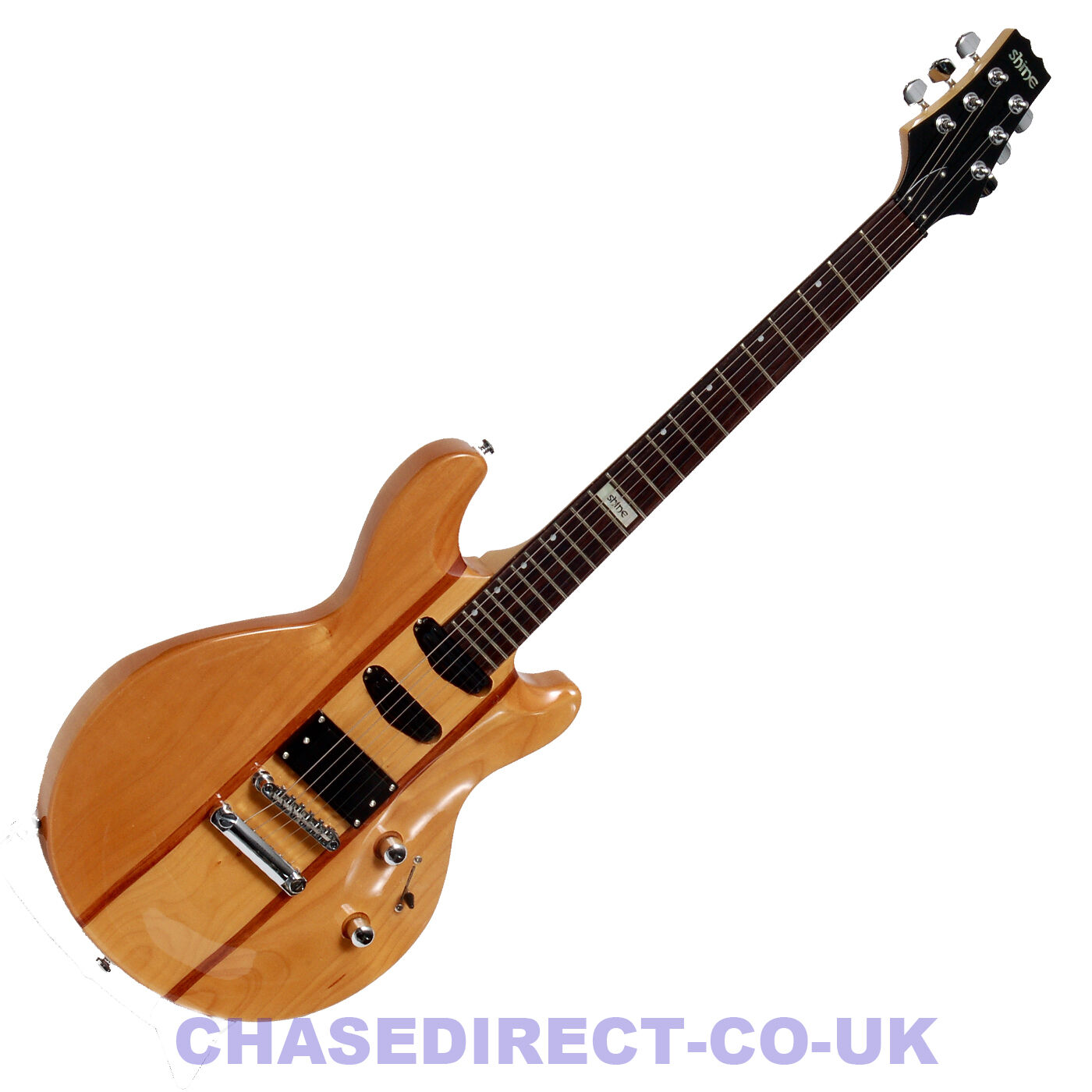 SHINE Electric Guitar SIL-601 NA Mahogany Les Paul Type Hot Rail Tune O Matic s
