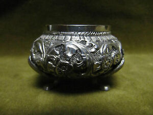 Saliere-argent-800-charancon-weevil-mark-silver-salt-cellar-volutes-39gr