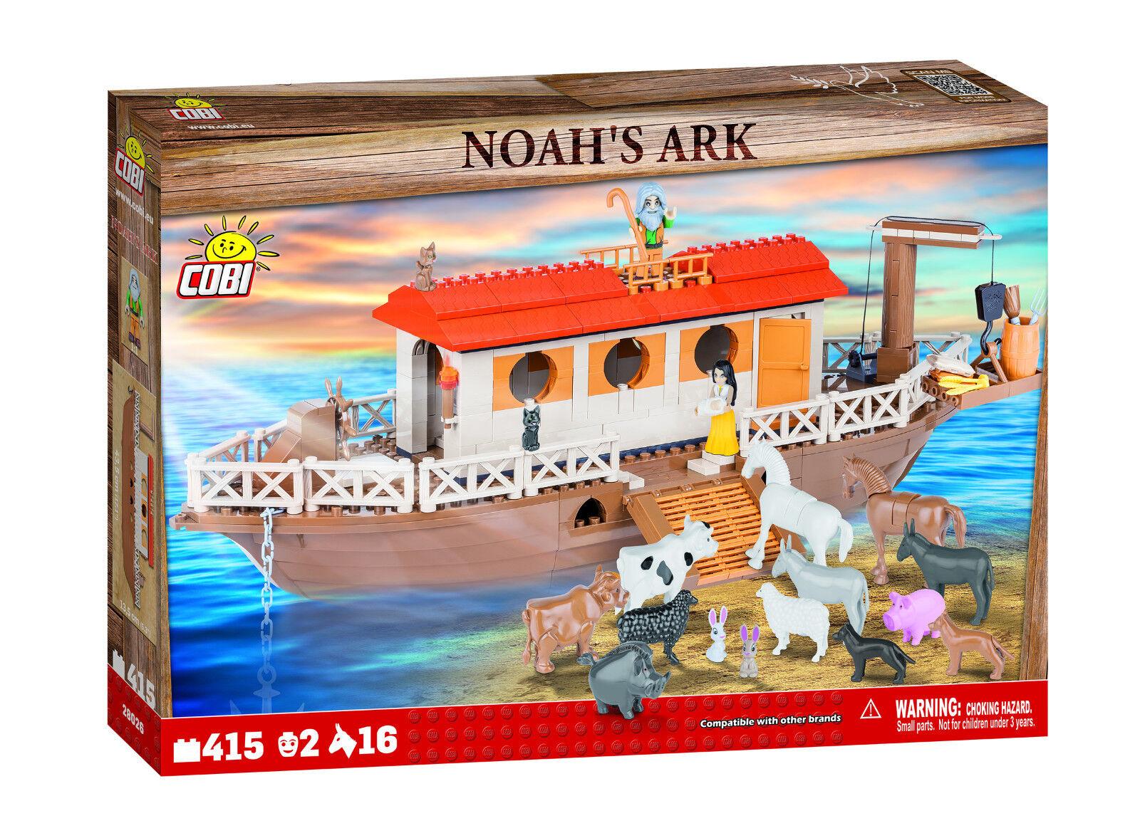 COBI 'Noah's Ark' 415 Pieces 2 Figures & 16 Animals Item