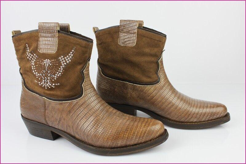 Grandes zapatos con descuento Bottines FRUIT FRUI.T Tout Cuir Marron T 39 IT / 40 FR ETAT NEUF