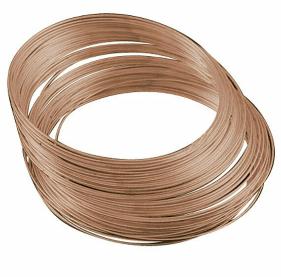 50 Circle Copper finish Memory Wire For Bracelet Making 5.5cm 1mm thickness-9408