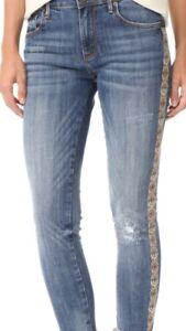 Catalogo Driftwood ricamo Donna Taglia Skinny Jeans Jackie Sundance 30 Nuovo wUgq5Z0OxO