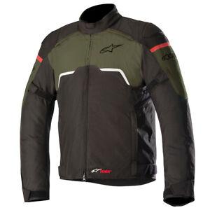 Alpinestars-Hyper-Drystar-Waterproof-Motorcycle-Bike-Jacket-Black-Military-Green