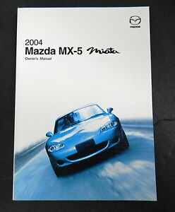 2004 Mazda MX-5 Miata Owners Manual Parts Service New ...