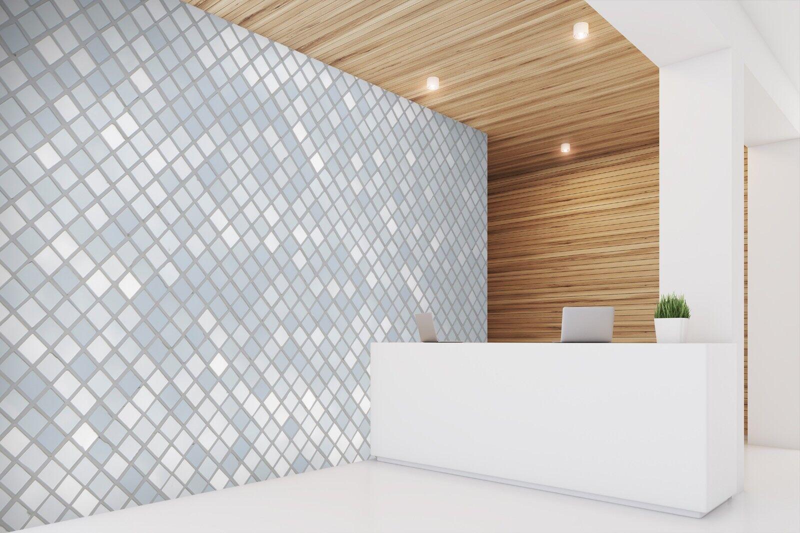 3D Light Blau Stone 89 Texture Tiles Marble Wall Paper Decal Wallpaper Mural AJ