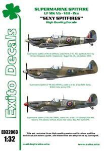 "Exito Decals 1/32 Supermarine Spitfire Lf Mk.vb / VII / Ixe ""Sexy Spitfires"""