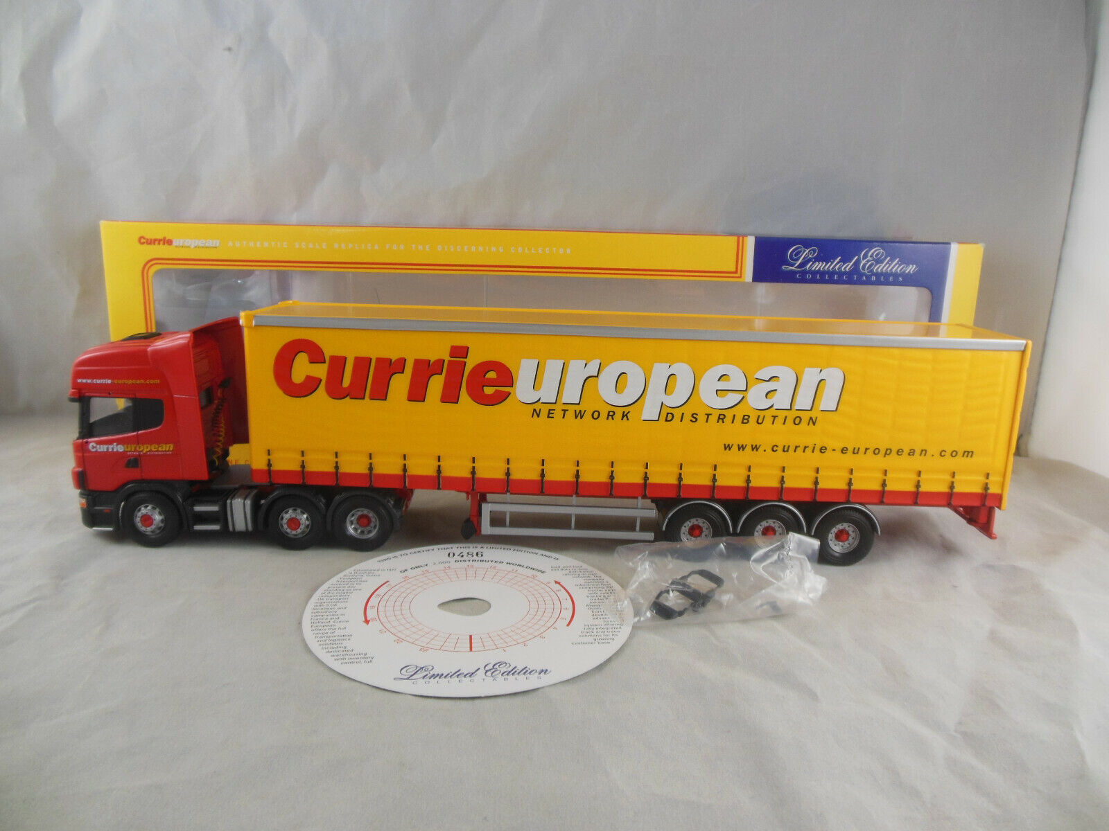 CORGI CC12903 Scania Topline Curtainside Currie European transport  échelle 1 50  bénéfice nul
