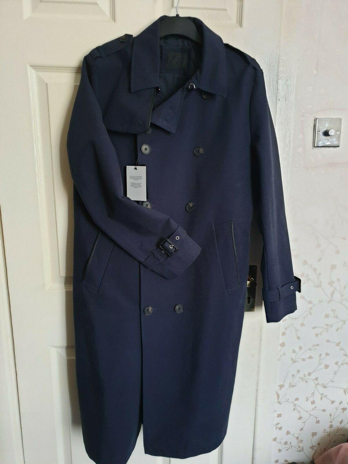 Asos Bleu Marine trench coat, taille moyenne, BNWT, livraison gratuite