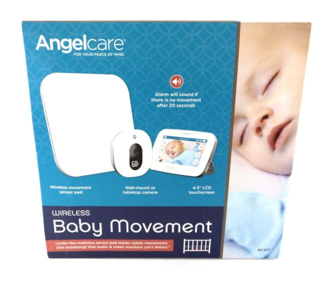 "Angelcare Baby Movement Monitor with 5"" Touchscreen Display and Wireless Sensor"