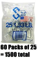 60 Ea Chicago Heights M005fast25rg025 25 Packs T-post Fence Post Clip / Fastener