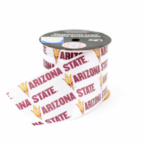 Arizona State Sun Devils Licensed NCAA Ribbon-4 Different Prints /& Width-Offray