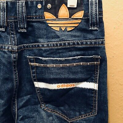 mens ADIDAS ORIGINALS mad cab slim fit blue label DENIM jeans trousers | eBay