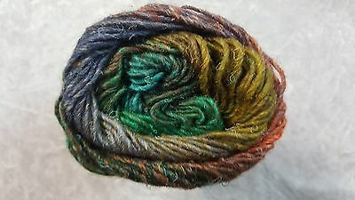 Noro Silk Garden #426 Blue Green Orange Mustard Mix 50g