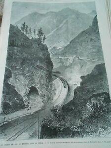 Prix Pas Cher Gravure 1867 - Le Chemin De Fer Du Brenner Dans Le Tyrol Non Repassant