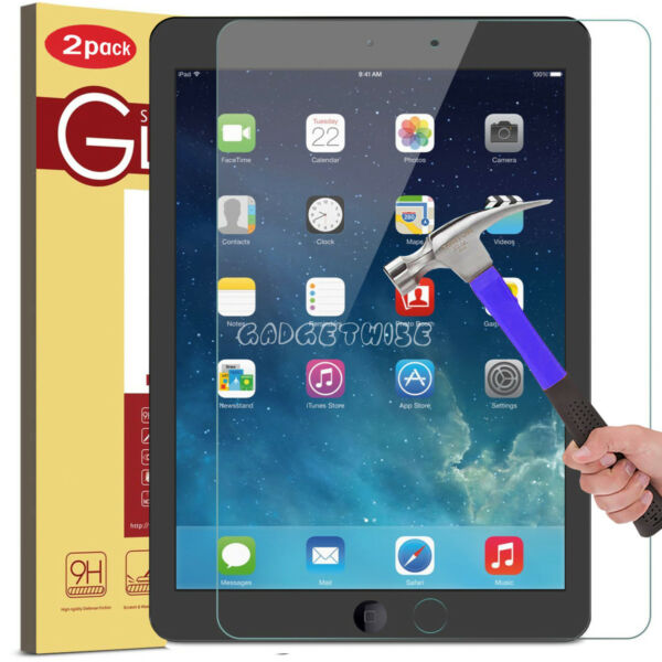 """2 Pack For Apple Ipad 9.7"""" 2018/17/16 Pro 9.7"""" -tempered Glass Screen Protector"""
