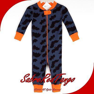NWT HANNA ANDERSSON ORGANIC BABY SLEEPER ZIPPER NIGHT WATCH BAT 50 0-6 M