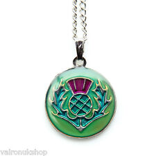 Scots Thistle  Mood Colour Changing Necklace