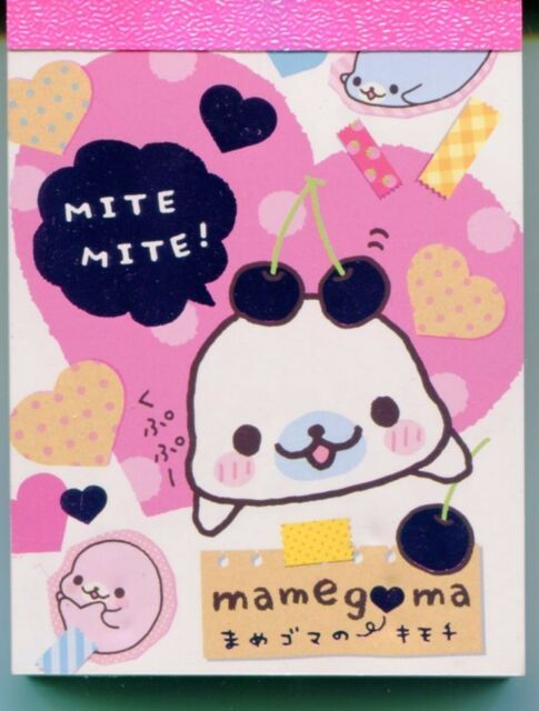 San-X Mamegoma Seal 2 Design Mini Memo Pad #4