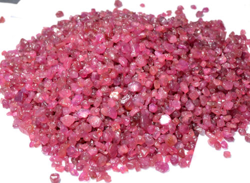 25 To 10000 Ct Natural Burma Pink Ruby Transparent Top Quality Earth-Mined Rough