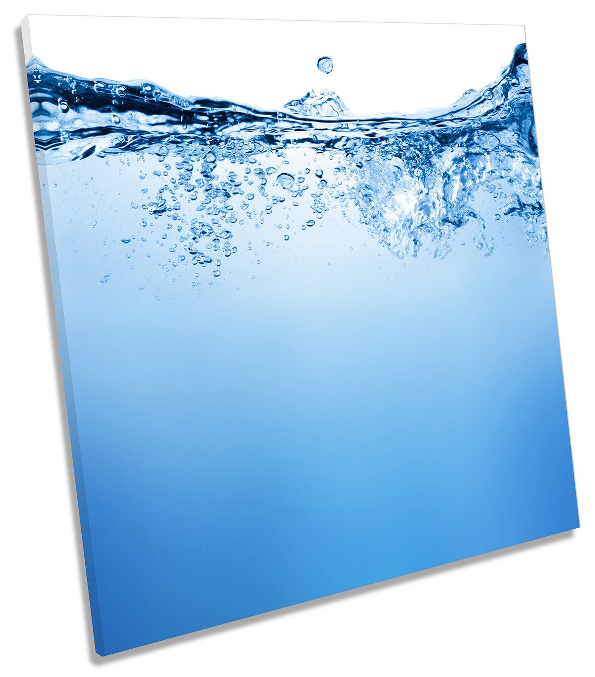 Blau Water Bathroom Picture CANVAS WALL ART Square Print