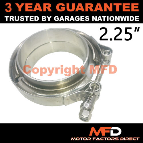 "V-BAND CLAMP FLANGES COMPLETE STAINLESS STEEL EXHAUST TURBO HOSE 2.25/"" 57mm"