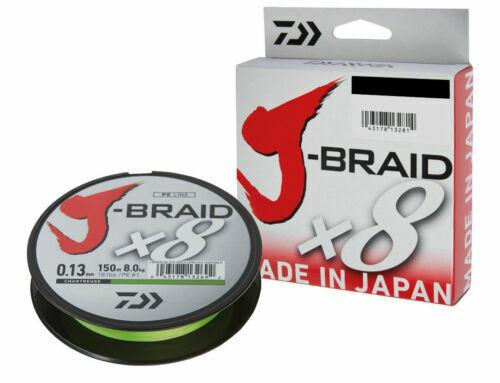 Daiwa J-Braid x8 especializada trenzada cuerda verde oscuro 0,18mm 12,0 kg