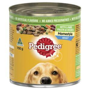 Pedigree Homestyle Lamb Pasta & Vegies Adult Wet Dog Food Can 700g