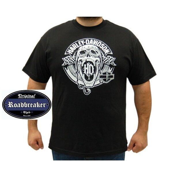 Harley Davidson T Shirt in schwarz Modell HD Skull Racing