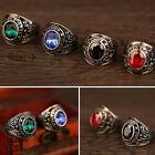 Stylish Men's Women's Punk Titanium Steel Rhinestone Finger Ring Jewelry Charm